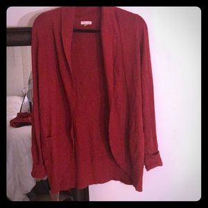 Silence and Noise Red Cardigan